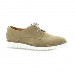 So send Derby cuir velours taupe
