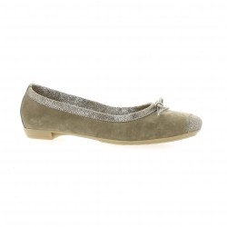 So send Ballerines cuir velours taupe