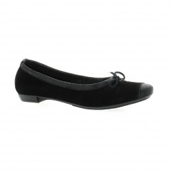 So send Ballerines cuir velours noir
