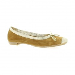 So send Ballerines cuir velours camel