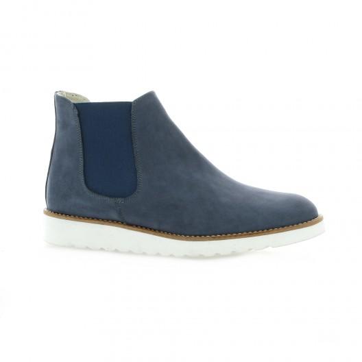 Latina Boots cuir velours bleu