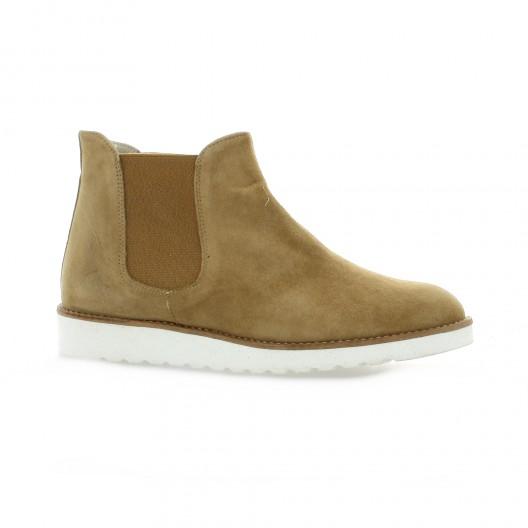 Latina Boots cuir velours camel