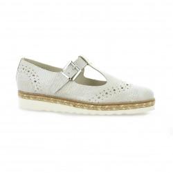 Mitica sandales cuir laminé beige