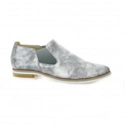 Mitica Boots cuir laminé gris