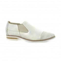 Mitica Boots cuir laminé beige