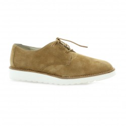 Latina Derby cuir velours camel