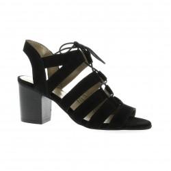 Impact Nu pieds cuir velours noir