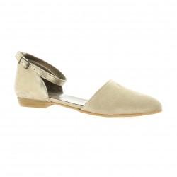 Impact Nu pieds cuir velours beige