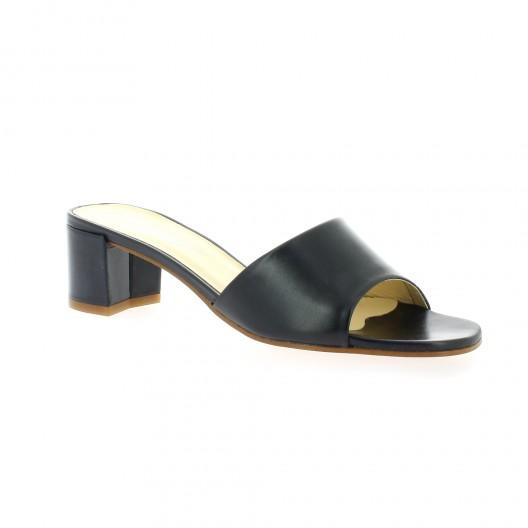 Elizabeth Stuart Mules cuir Marine - Chaussures Sandale Femme
