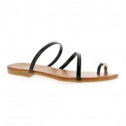 Pao Nu pieds cuir vernis noir