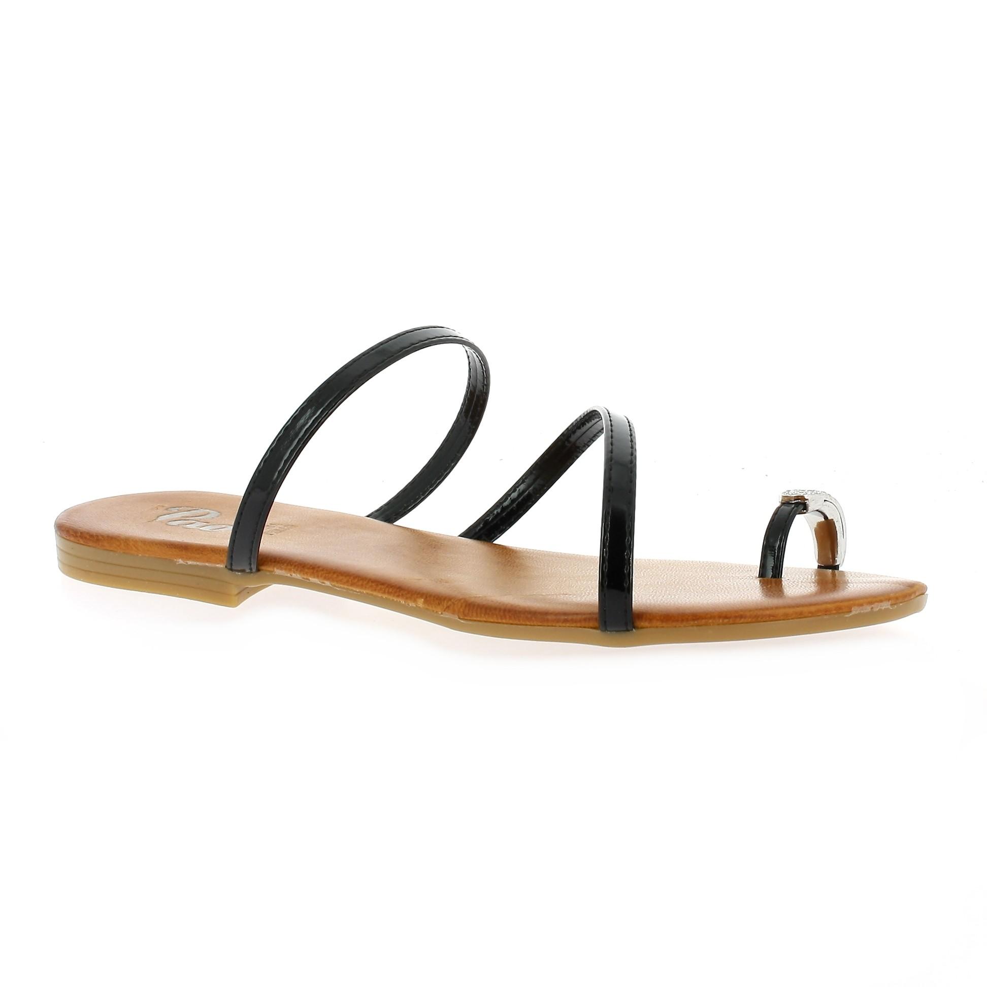 Cuir Nu Vernis Sandale Femme Gh8hua1z Pao Pieds Marine Chaussures UVpGqSzM