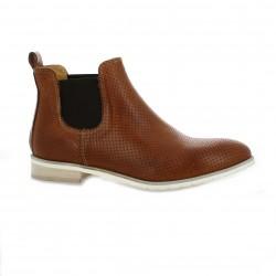 Red creatyve Boots cuir cognac