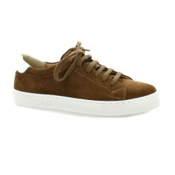 So send Baskets cuir velours cognac