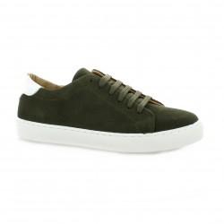 So send Baskets cuir velours kaki