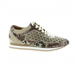 Femme plus Baskets cuir python naturel