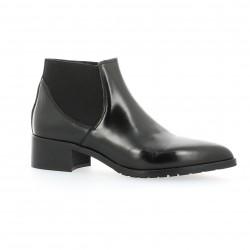 Boots cuir glacé noir Nuova riviera