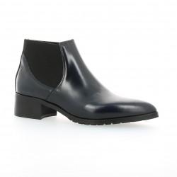 Boots cuir glacé bleu Nuova riviera