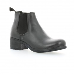 Boots cuir gris Nuova riviera