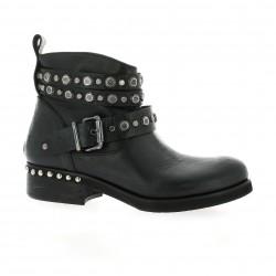Curiosity Boots cuir noir