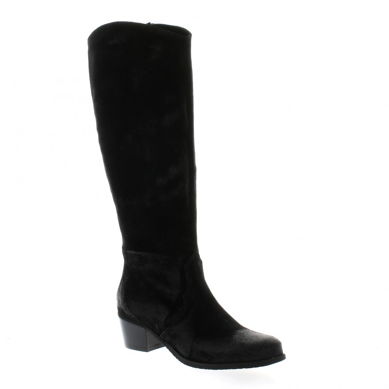 bottes pao chaussures cuir velours noir 2310. Black Bedroom Furniture Sets. Home Design Ideas