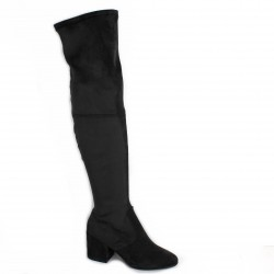 Pao Bottes cuir velours gris