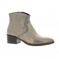 Reqins Boots cuir laminé bronze