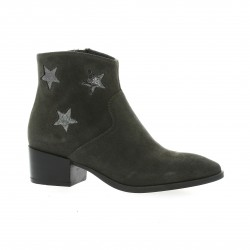 Reqins Boots cuir laminé anthracite