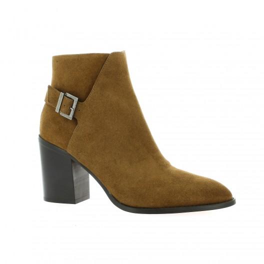 Elizabeth Stuart Derby cuir velours Cognac - Chaussures Boot Femme