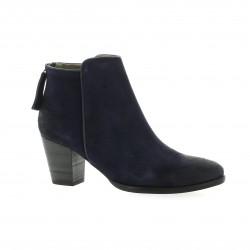 Minka design Boots cuir velours marine