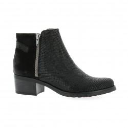 Minka Design Boots cuir python noir