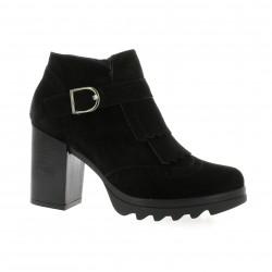 Riva di mare Boots cuir velours noir