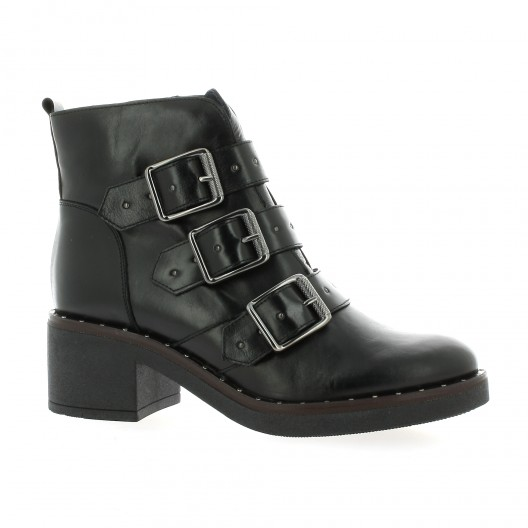 Riva di mare Boots cuir noir