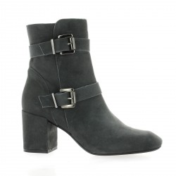 Pao Boots cuir velours gris