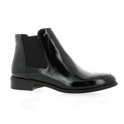 Pao Boots cuir vernis noir