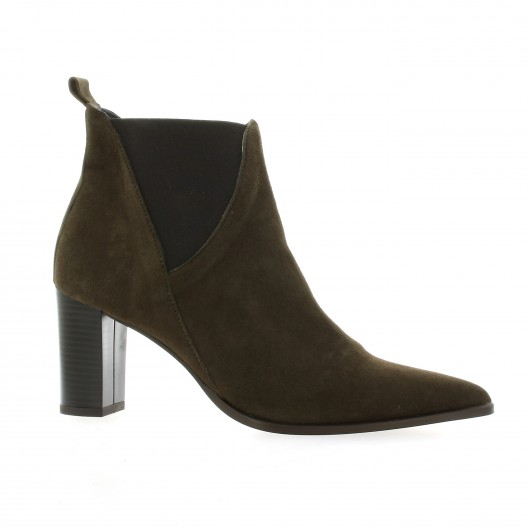 Pao Boots cuir velours marron
