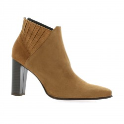 Pao Boots cuir velours cognac