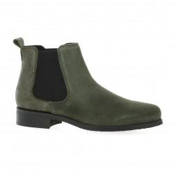 We do Boots cuir velours kaki