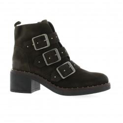 Riva di mare Boots cuir velours marron