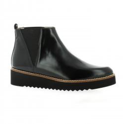 Brenda zaro Boots cuir glacé noir