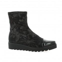 Humat Boots cuir laminé noir
