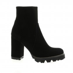 Nuova riviera Boots cuir velours noir