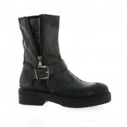 Red creatyve Boots cuir noir