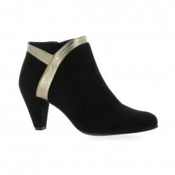 Costa Boots cuir velours noir