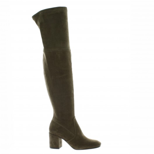 Pao Cuissardes Taupe - Chaussures Cuissardes Femme