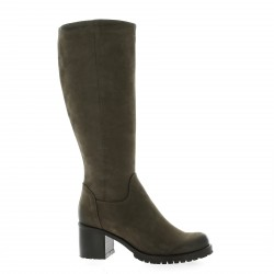 Pao Bottes cuir nubuck taupe