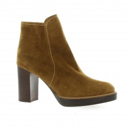 Exit Boots cuir velours camel