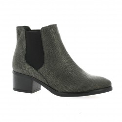 We do Boots cuir python argent