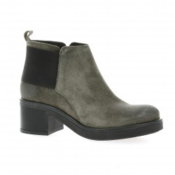 We do Boots cuir velours gris
