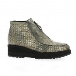 Benoite c Boots cuir python bronze