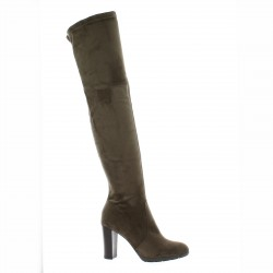 Pao Cuissardes cuir velours taupe
